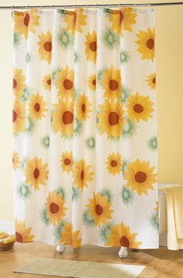 Sunflower Bathroom Shower Curtain Paints