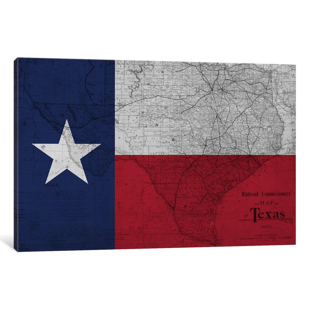 icanvas state flag overlay series texas canvas art on icanvas wall art id=30248