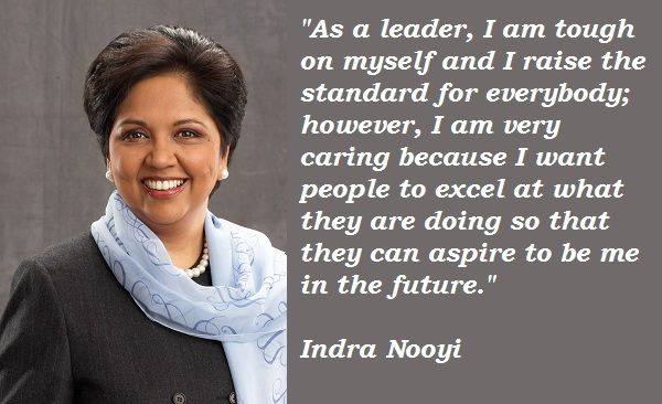"""indra nooyi transformational leadership Mrs nooyi is currently chief executive officer of the more than $32 billion  """" indra's record of transformational leadership is second-to-none."""