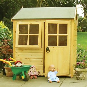 Shire 4 X 4 Ft Bunny Entry Level Wooden Playhouse Kids Wooden Playhouse Play Houses Wooden Playhouse
