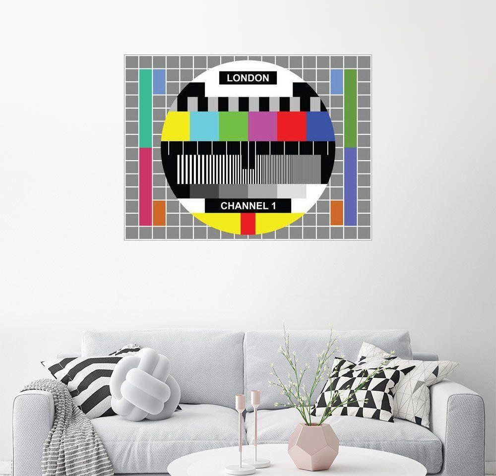Posterlounge Wandbild - Jaysanstudio »London-TV-Kanal 1« Jetzt ...