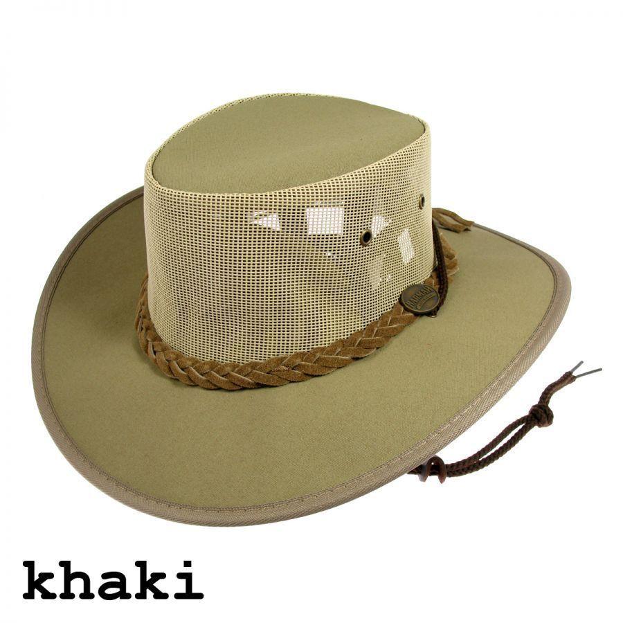26ec34158ce4d1 Barmah Australia Waterproof Crushable Khaki Canvas Drover Cowboy Hat  #Barmah #Gambler