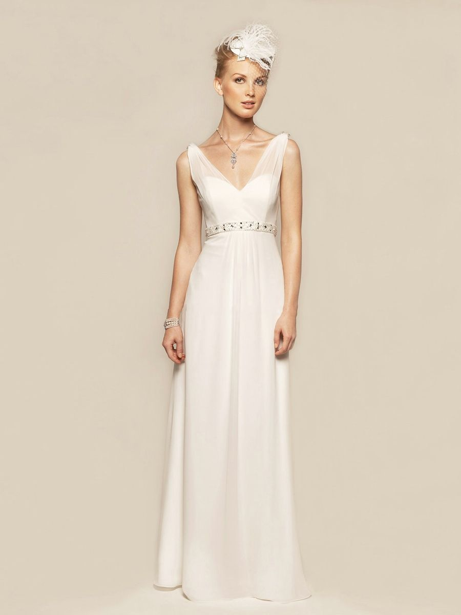 Floor Length Comfortable Chiffon Material Wedding Dress Cut In