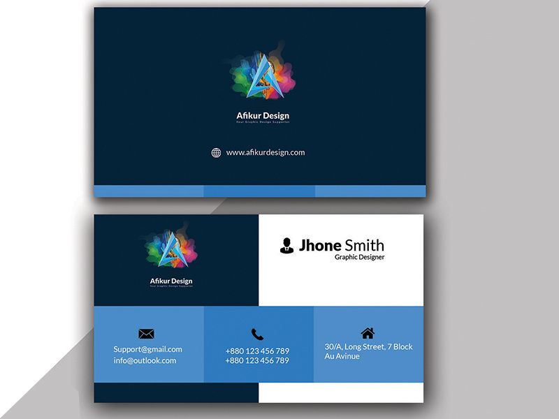 Modern Business Card Design In 2020 Business Card Design Modern Business Cards Design Modern Business Cards