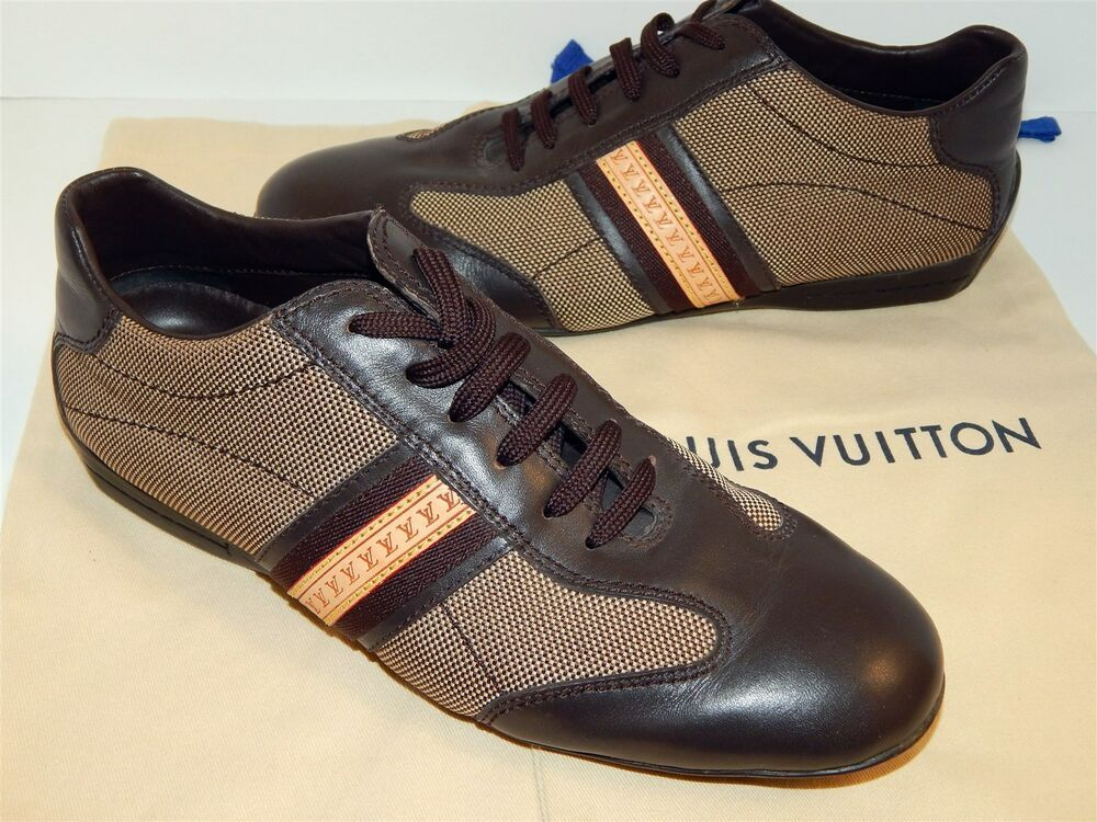 dfa63a40642 eBay #Sponsored Louis Vuitton Men's Brown Leather Canvas Monogram ...