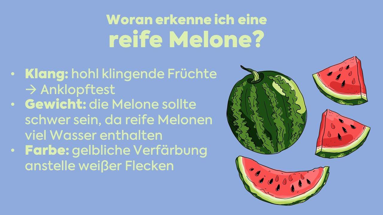reife melone erkennen