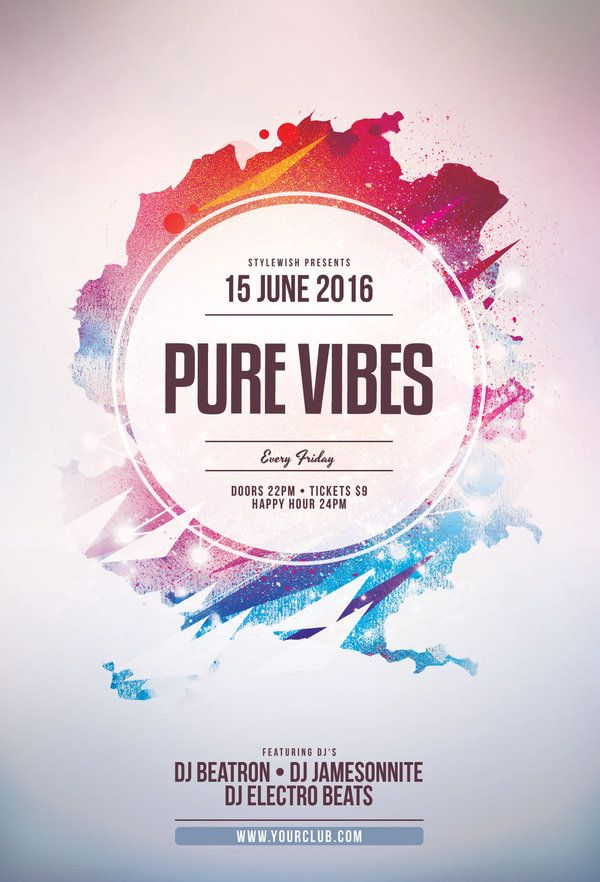 Pure Vibes Flyer Pinterest Flyer Template Template And Flyer - Buy flyer templates