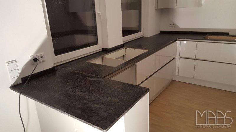 Steel #Grey #Küchenarbeitsplatte aus #Granit http://www.maasgmbh.com ...