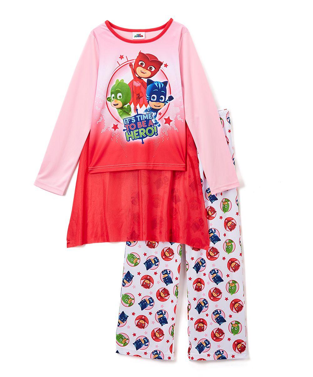 2a936bec PJ Masks Pink Cape Long-Sleeve Pajama Set - Toddler & Girls ...