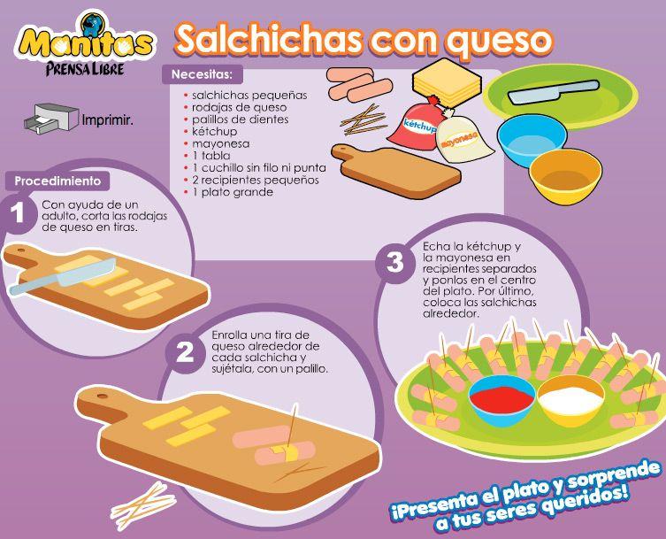 Salchichas Con Queso Hago Mi Tareahago Mi Tarea Recetas De Cocina Para Niños Cocina Para Niños Taller De Recetas Para Niños