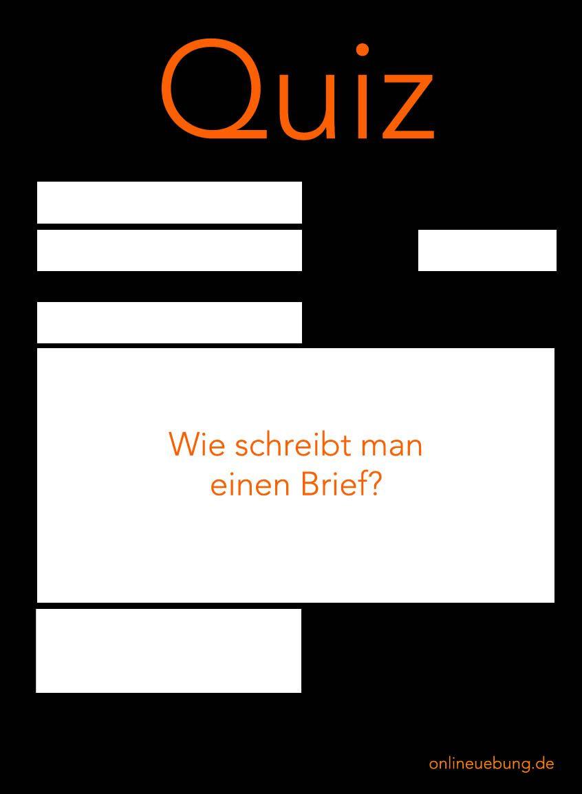 Quiz Zum Thema Briefe Schreiben Briefe Schreiben Deutsch Uben Und Schreiben