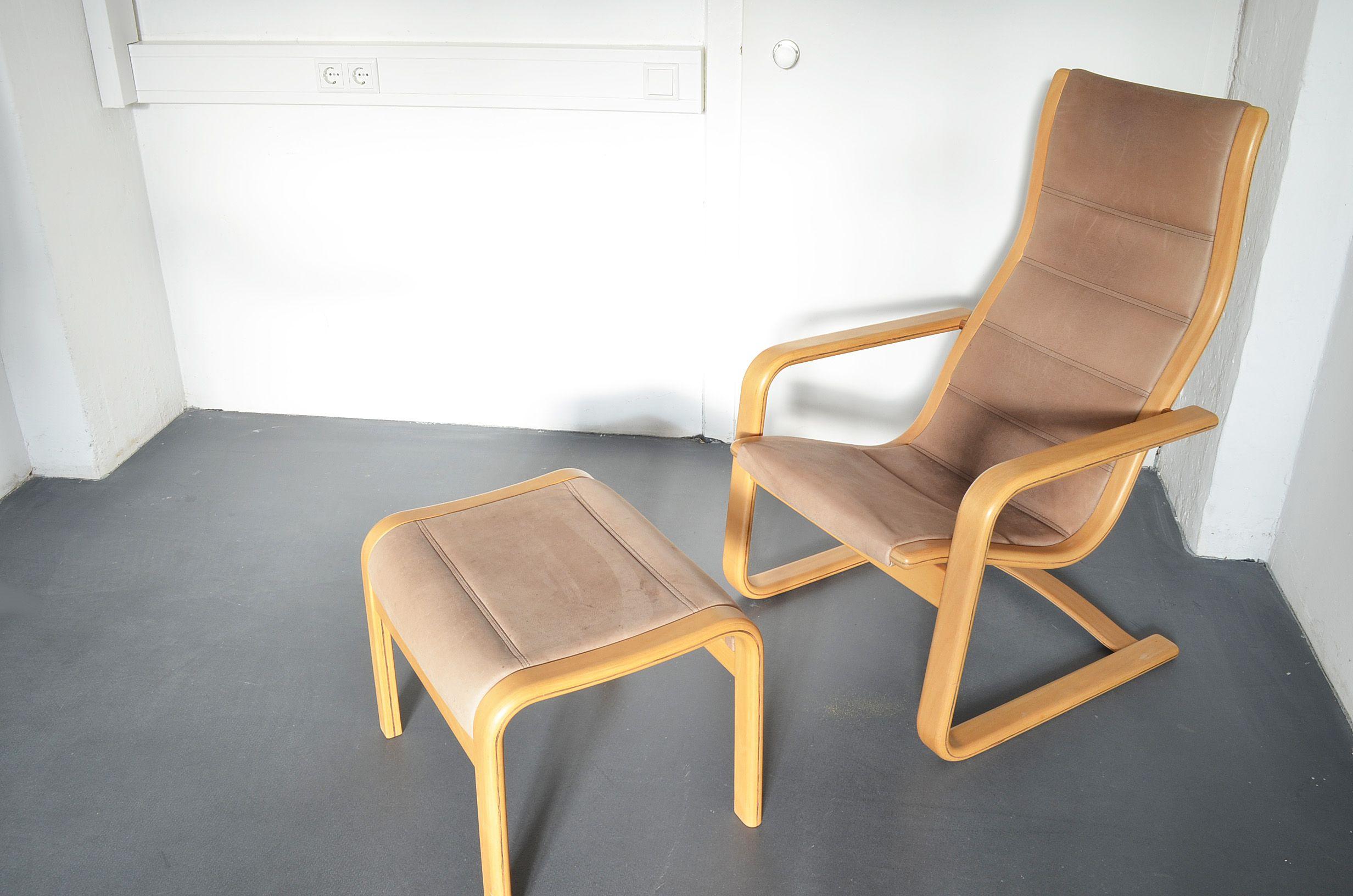 Armlehnstuhl #lounge chair #lamello mit hocker #ottoman