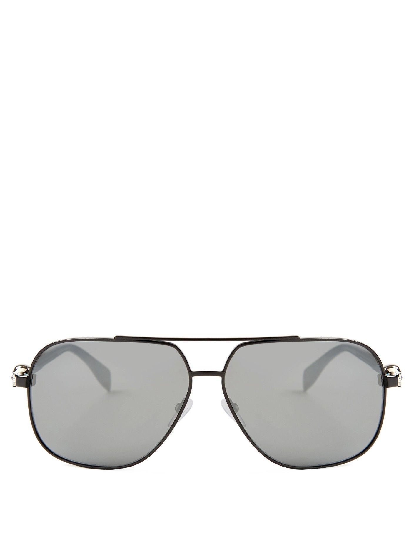 c3e169ae97 Skull-hinge aviator sunglasses