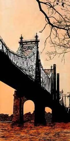 Queensboro Bridge Giclee Print By Joan Farre Giclee Print Art