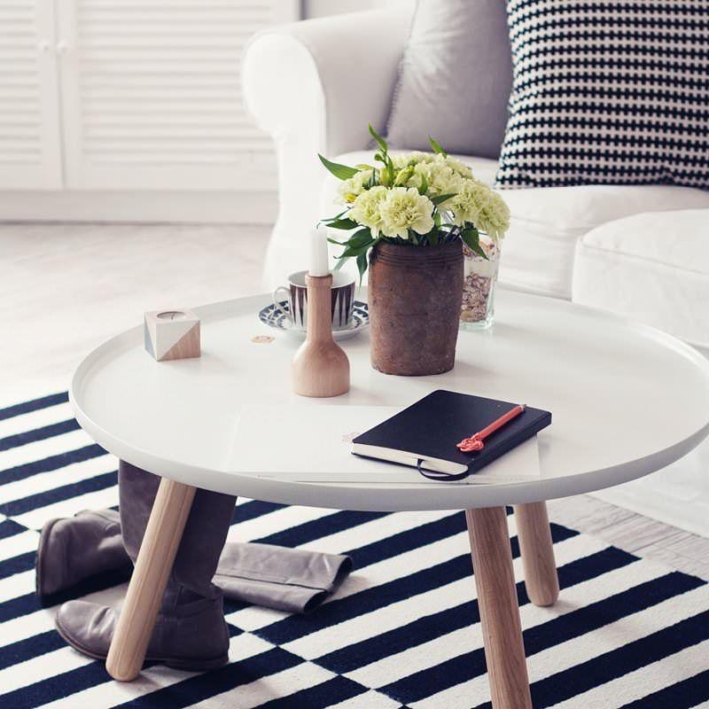 Der Weiße Couchtisch Tablo Von Normann Copenhagen Und Weitere Tische Von Normann  Copenhagen Im Spuersinn24 Design