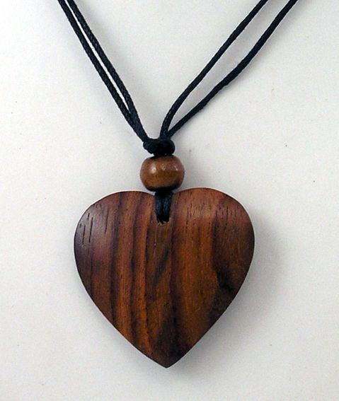 Wooden Heart Pendant I D Hide The Knot In The Bead Or Eliminate It Altogether Wooden Heart Pendant Wooden Jewelery Wood Jewelery