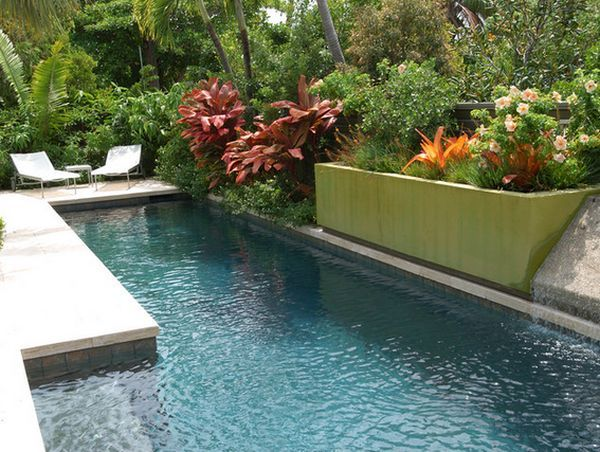10 Ways To Upgrade Your Poolside Area This Summer Backyard Pool Landscaping Bungalow Landscaping Small Yard Design