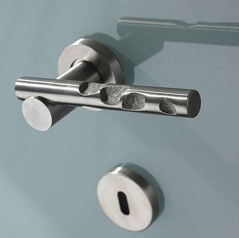 Contemporary Door Handles   Lever Handle Design Fingerprint By Philip Watts