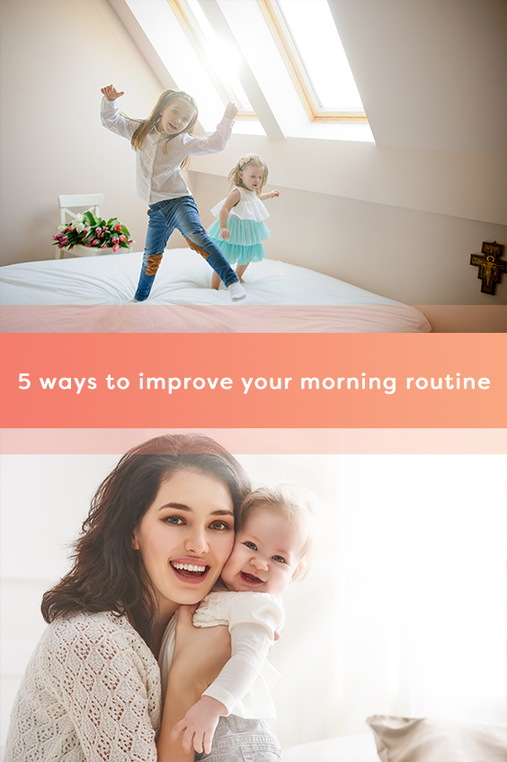 Learn these 5 easy tips and improve your family's morning routine to start the day in a good mood!