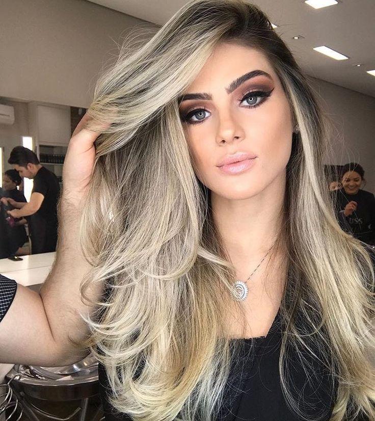 Fabulous Haarfarbe Ideen für mittlere, lange Haare - Ombre, Balayage Frisuren  #fabulous #haare #haarfarbe #ideen #lange #mittlere #ombre