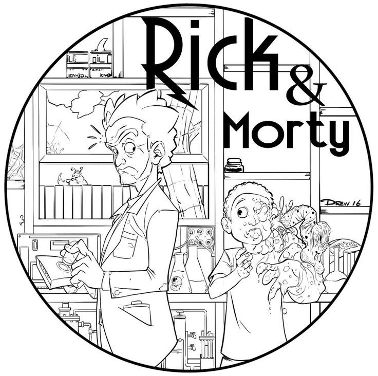 Image result for pickle rick coloring page | Art Ideas | Pinterest ...