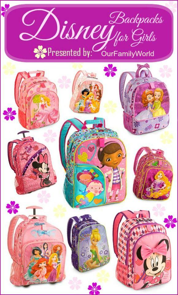 Back to School Backpacks for Girls from Disney