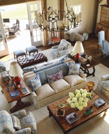 Big Family Living Room: Back-to-back Sofas . . . Arrange Furniture Like A Pro (by