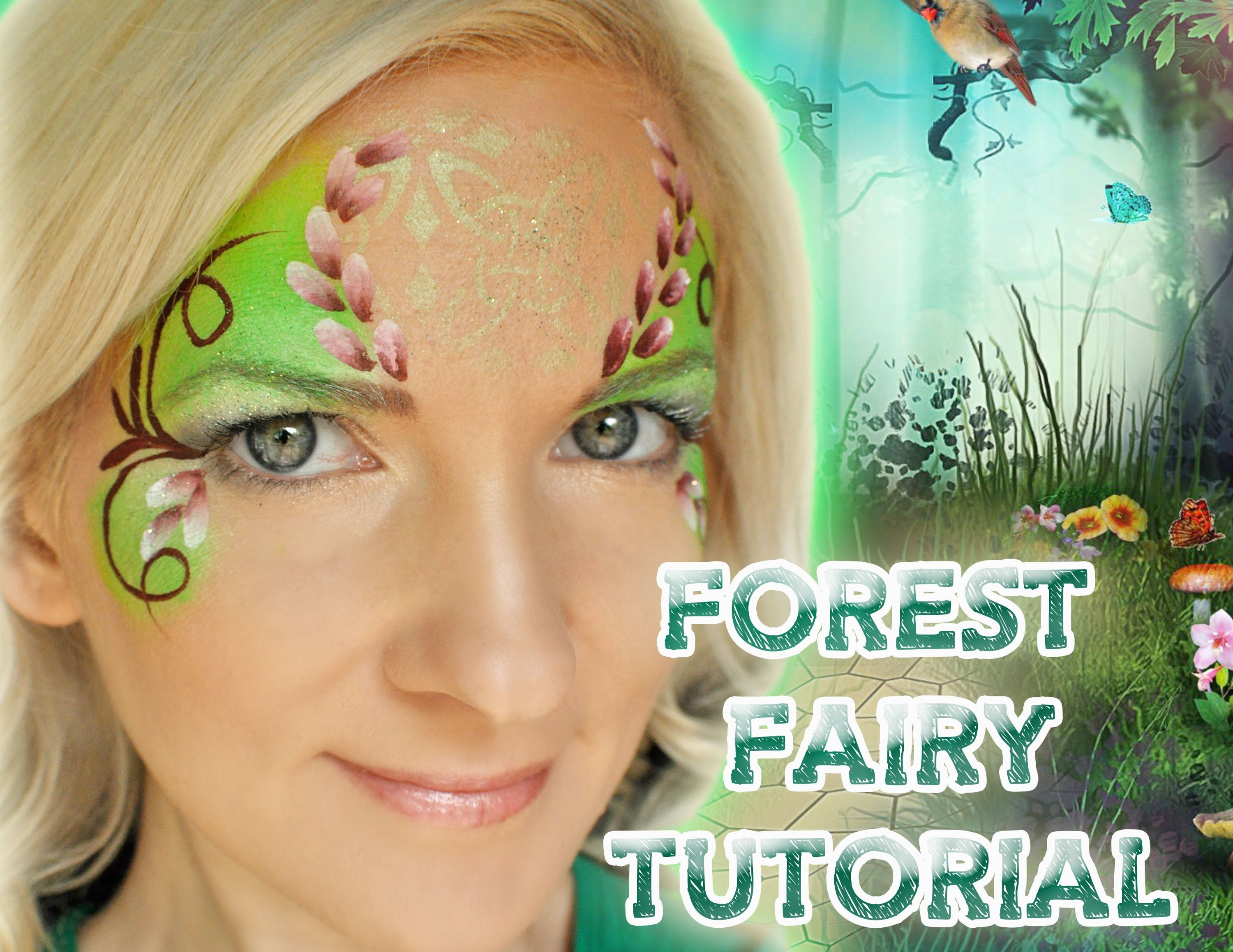 FAST! Forest Fairy Face Painting Makeup Tutorial | Face ...