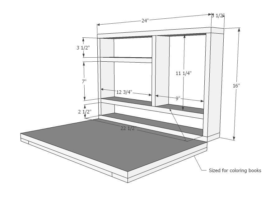 Diy Furniture, Fold Down Wall Desk Plans