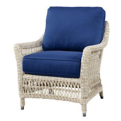 Wildon Home ® Arm Chair with Cushion Fabric: Flagship Salt ...