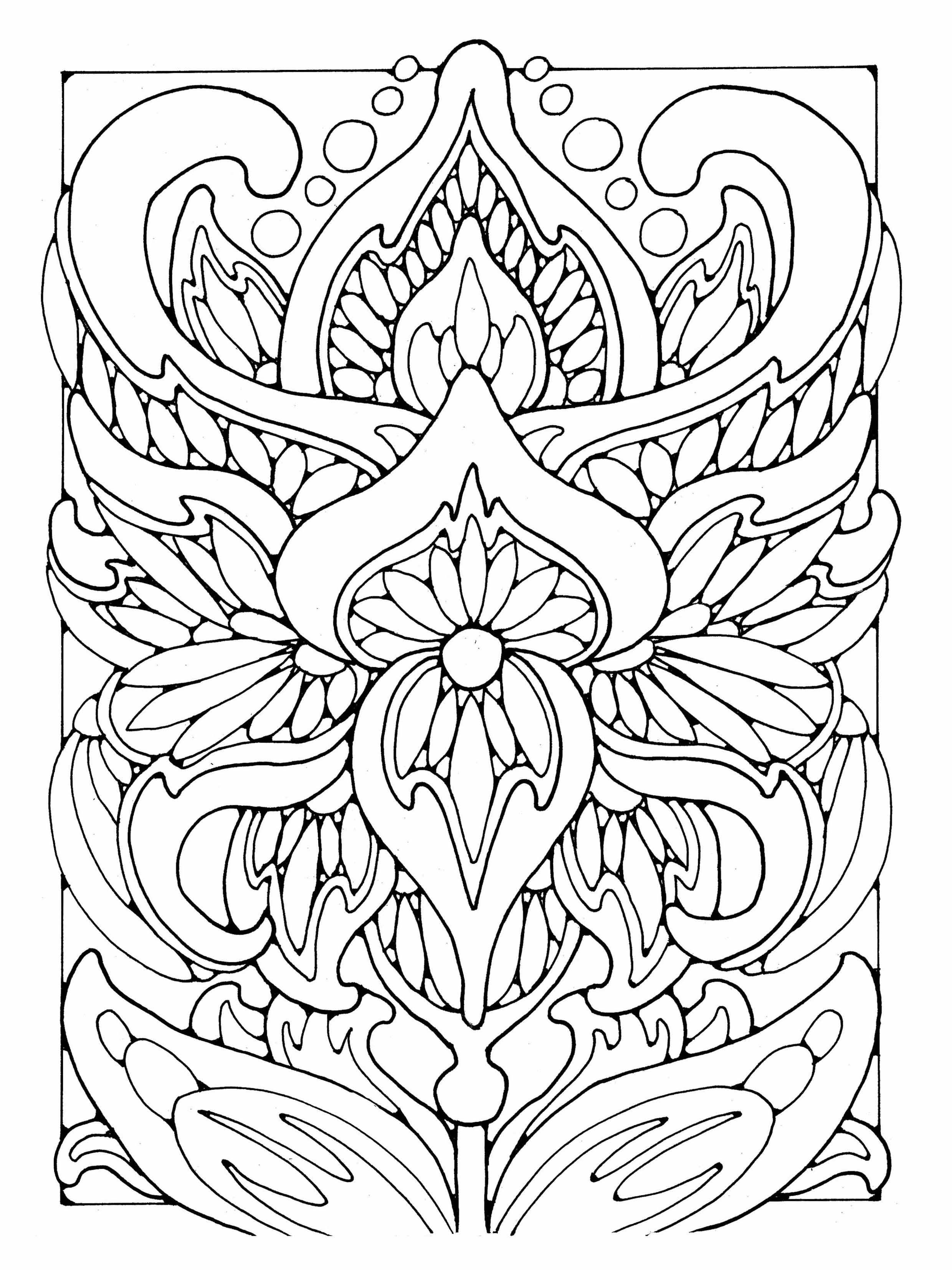 Patterns To Color In Us Letter Format Floral Coloring Pages For
