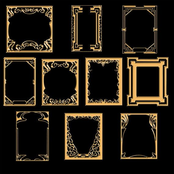 100 art deco digital frames clip art labels tags by digitalneeds