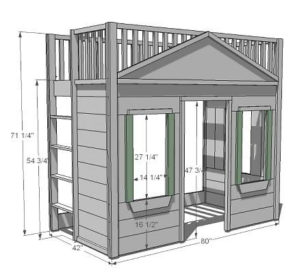 Little Cottage Loft Bed Loft Bed Plans Build A Loft Bed