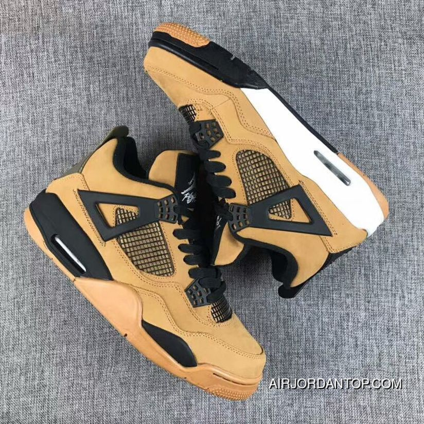 quality design 91846 91551 Travis Scott X Air Jordan 4 Wheat Suede Mens Basketball ...