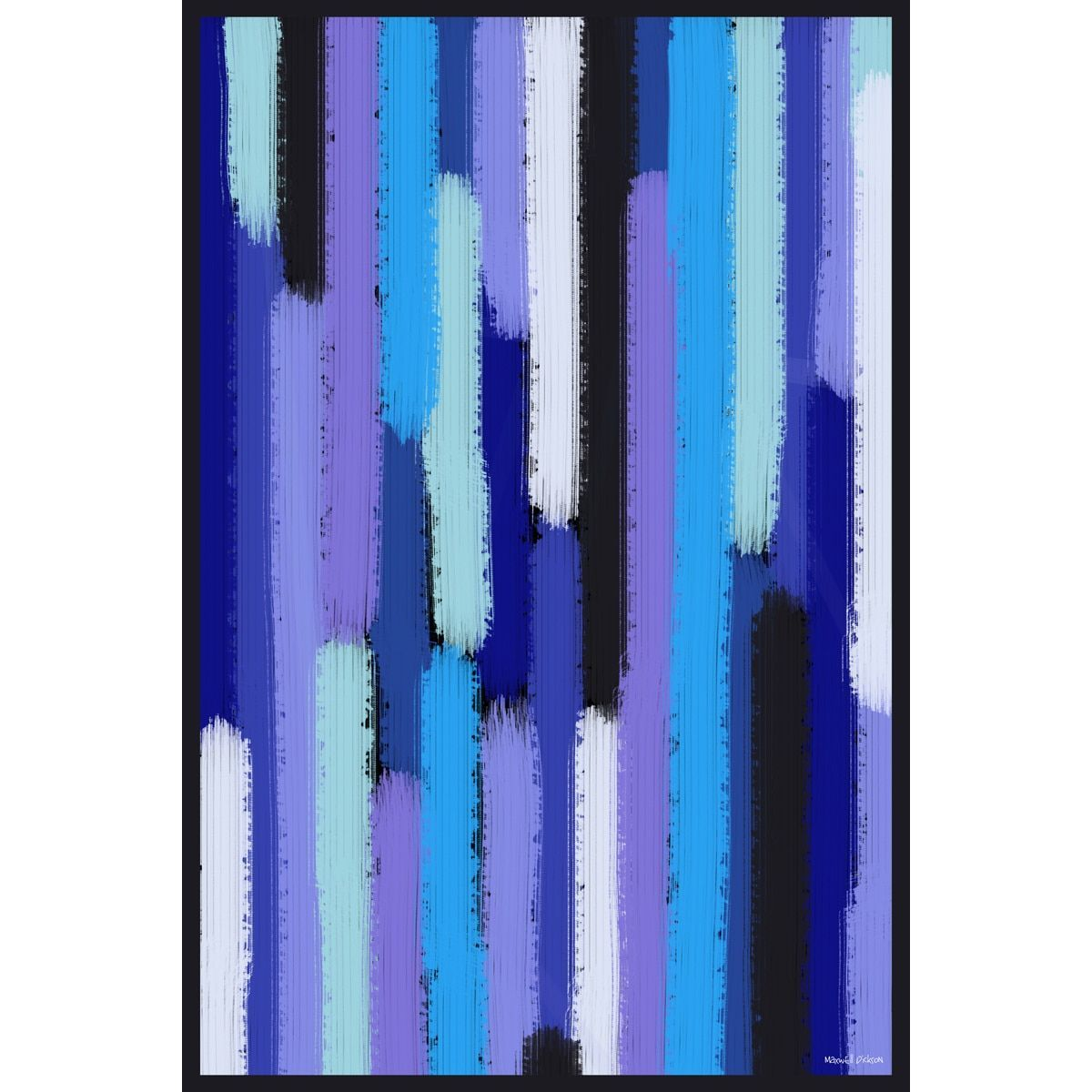 Maxwell Dickson ' Showers' Abstract Canvas Art Print