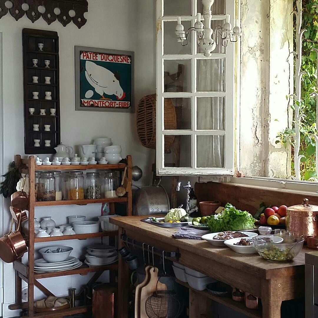 Vintage French Kitchen: French Country House, French Country Kitchens, French