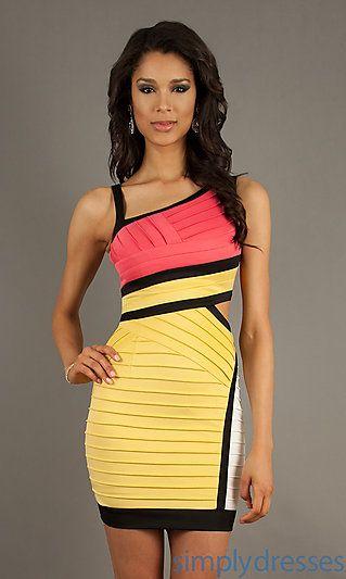 44949f46269f Short Sleeveless Bandage Dress at SimplyDresses.com - 89
