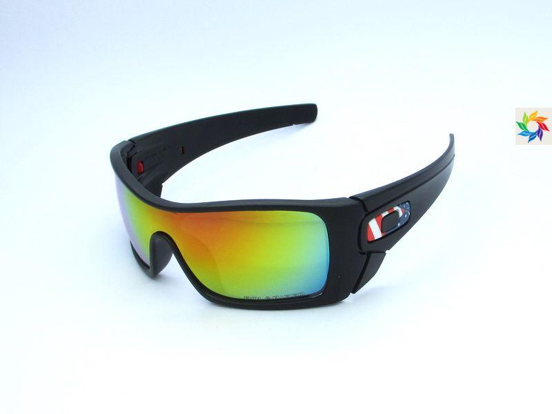 Oakley Batwolf Sunglasses Black USA flag frame Green Lens | Oakley ...