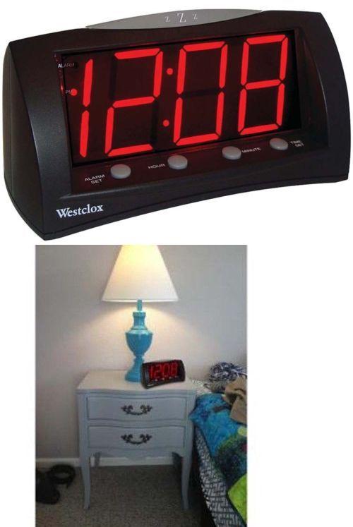 "Black Westclox 66705 Oversized Snooze Alarm Clock 1.8/"""