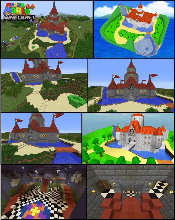 Super Mario 64 Peaches Castle Minecraft Remake. This is a ...