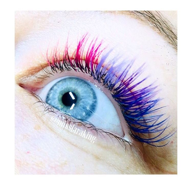 ee8e49070a5 Coloured lash extensions Classic Rainbow unicorn lashes | beauty in ...