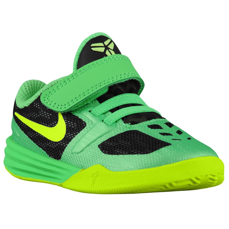 Nike Kobe Mentality Toddler Boys Shoe Black Poison Green Volt (Size 8c) . da3feab19