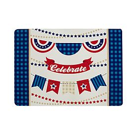 Patriotic Banners Vinyl Place Mat from Big Lots