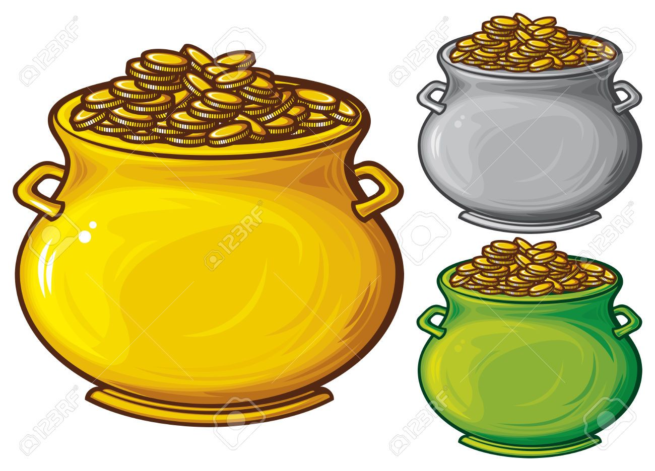 Pot Of Gold Coins Pot Of Gold Gold Coins Pot Of Gold Gold