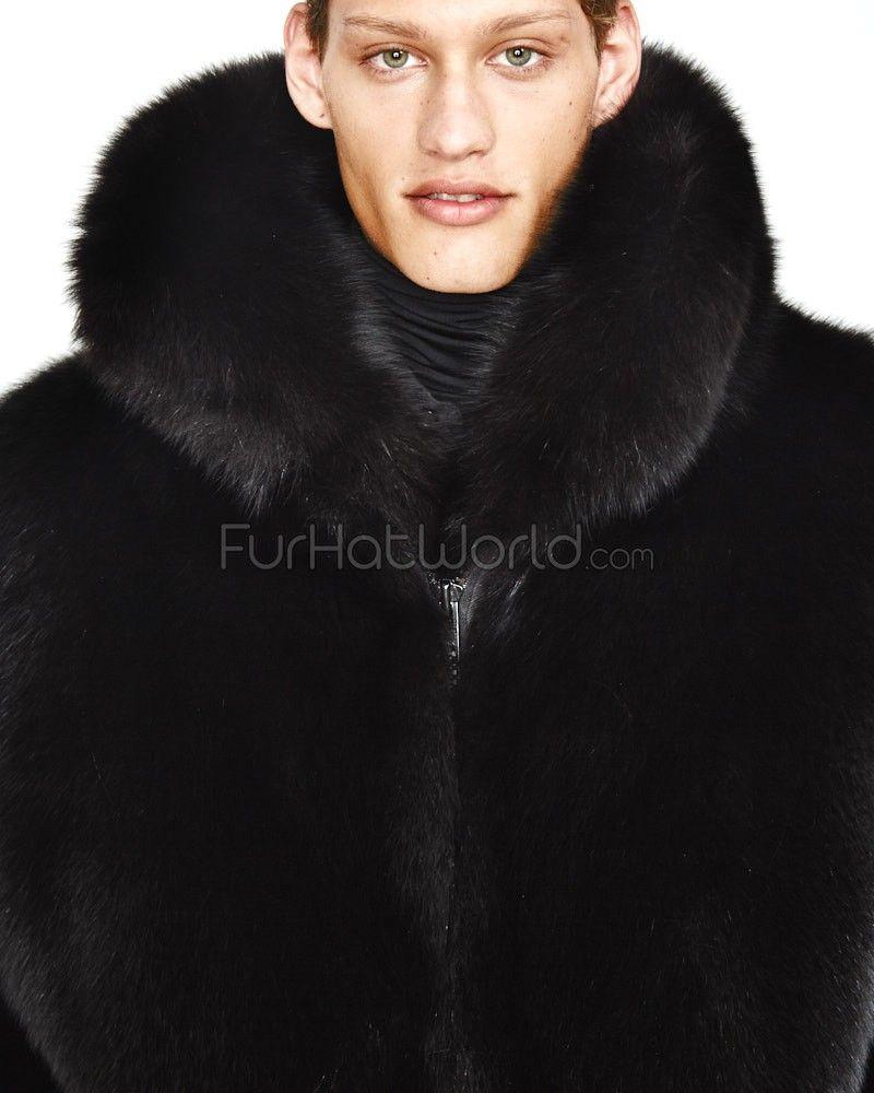 8d78e20d7 The Hudson Mid Length Black Fox Fur Coat for Men | Men's Fashion ...
