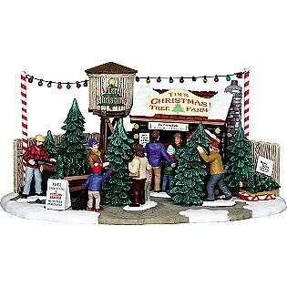 Tims Christmas Tree Farm Lemax Village Collection Seasonal Christmas Christmas Tree Village Display Christmas Tree Village Lemax Christmas Village
