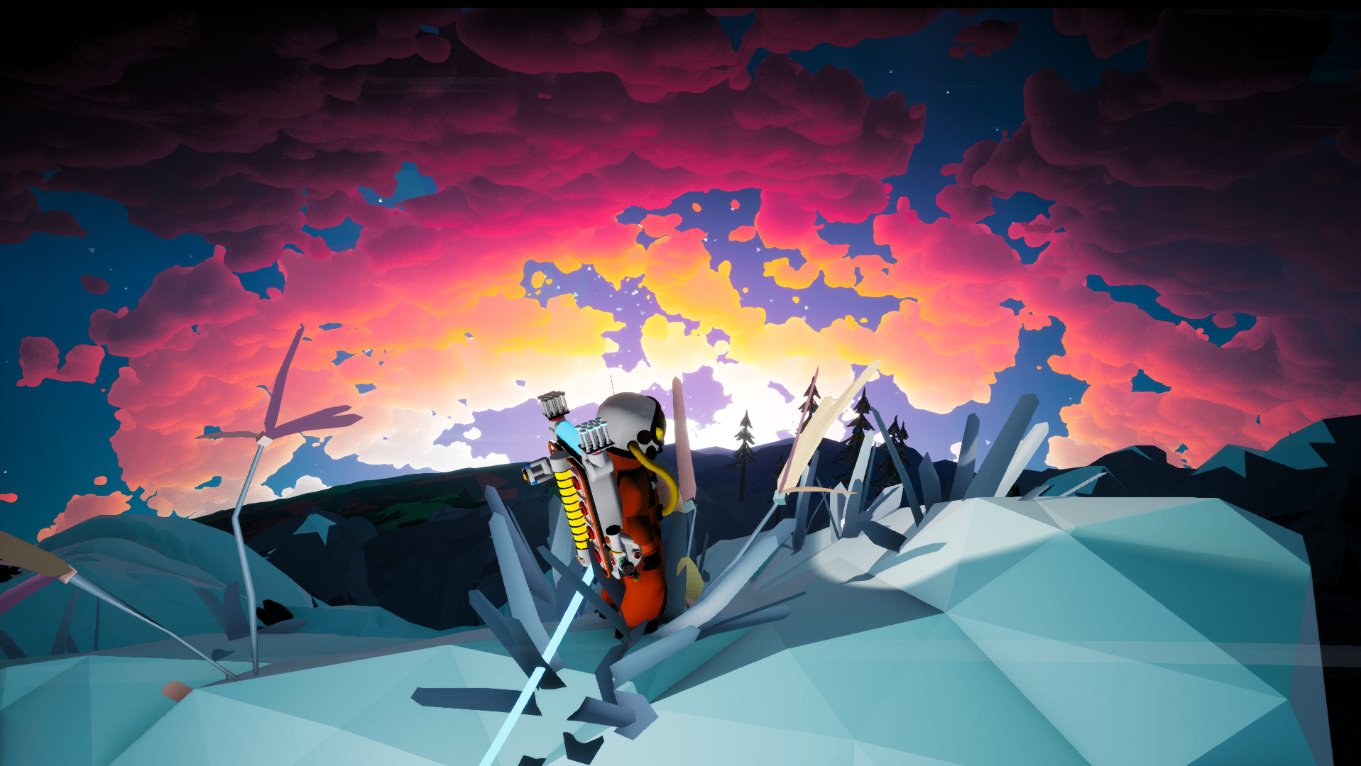 Astroneer Sunset Game Games Gaming Rules R Wallpaper