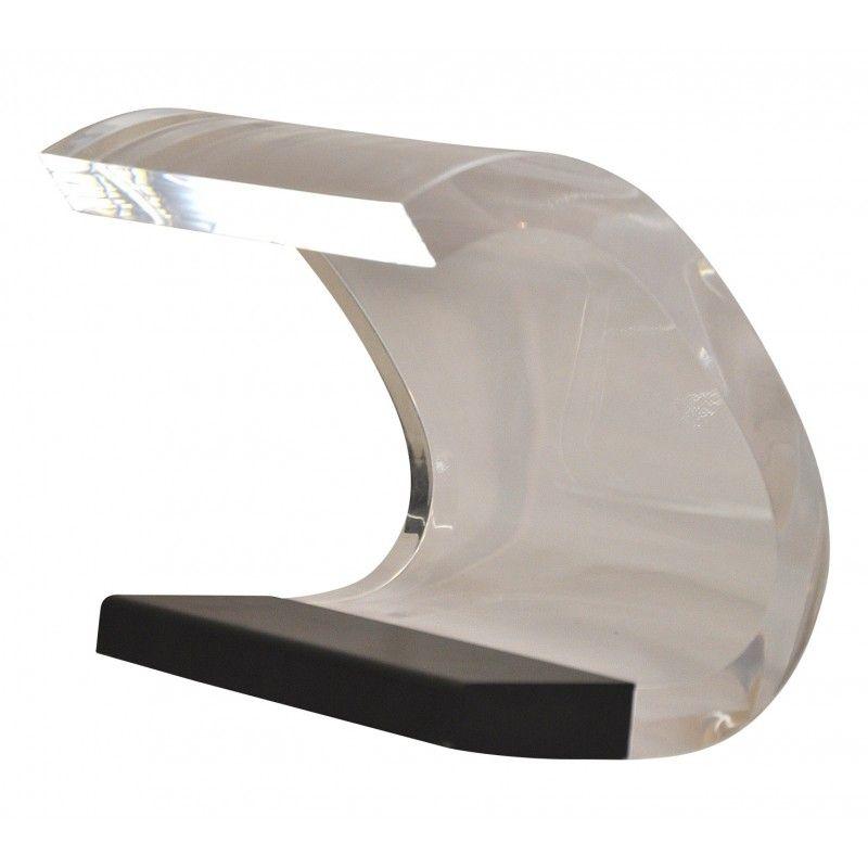 Lampe de bureau Acrilica en plexiglass et mtal laqu noir Joe