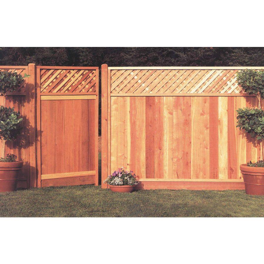 Shop Top Choice Redwood Lattice-Top Wood Fence Gate (Common
