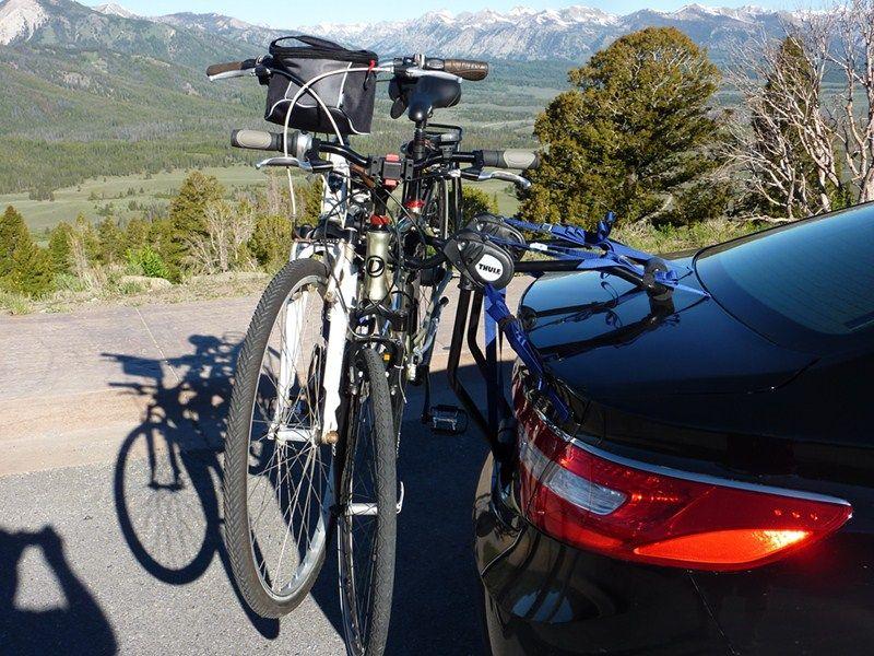 thule passage 2 bike carrier trunk